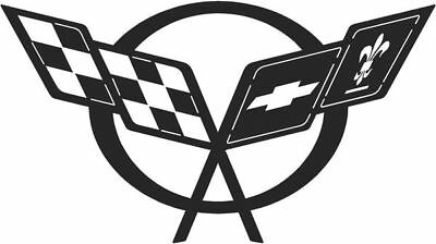 DXF CNC dxf for Plasma  Chevy Corvette Racing Flag Vector   Man Cave