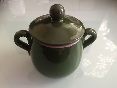 Denby Bourne Two Handled Small Pot With Lid - Dark Green