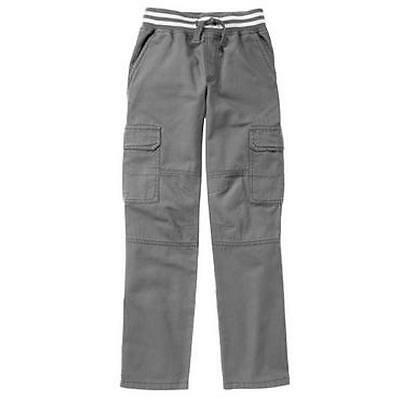 NWT Gymboree Boys Pull on Gray Cargo Pants 12 18-24M,2T,3T,4T,5T,5,7,10