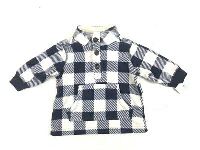 Baby Boys Carters Infant Fleece Pullover Sweater Long Sleeve Size 3 Mon NEW NWT