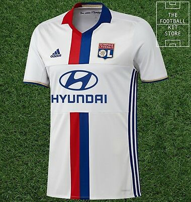 Lyon Home Shirt - adidas Olympique Lyonnais Football Jersey - Mens - All Sizes