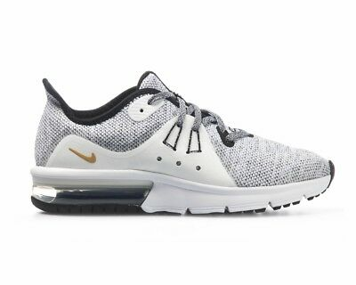 cheaper 9be24 4f00d Boys Nike Air Max Sequent 3 GS 922884 007 Girls Trainers White Ladies Gym  Shoes