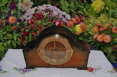 Smiths Antique Art Deco Westminster Chime Mantel Clock, 1956. Excellent!