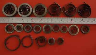 Job lot 20 Clock Mainsprings all new assorted sizes