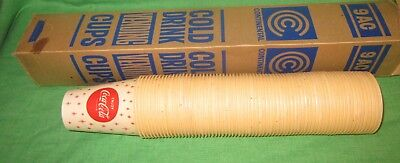 1960's Coca-Cola Boxed Sleeve of 70 Waxed Paper Soda Cups 9 oz. *New Old Stock*