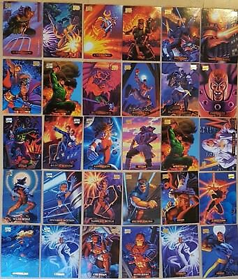56 Trading Cards MARVEL MASTERPIECES 1994