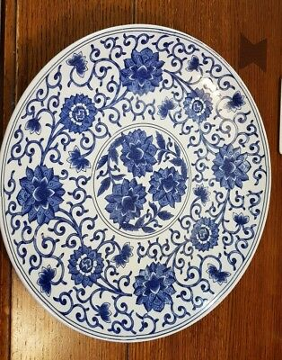 Large Chinese Charger plate blue and white