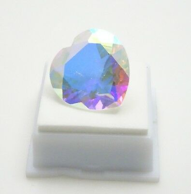 Mercury Mystic Quartz - 24mm Heart - 36.30ct - Brazilian Quartz Loose Gemstone