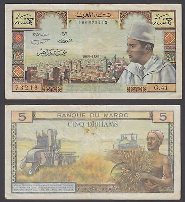 Morocco currency 10 Dirhams 1969 Reproductions UNC