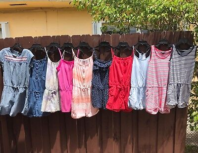 Gap kids girls  romper jumpsuit size 12/14/16 Large XL XXL Cherokee XL LOT OF 10