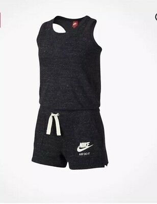 Nike Gym Vintage Romper- Girls Size L (black)