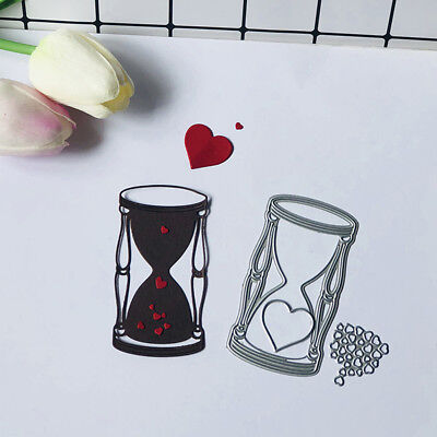 3Pcs Love Hourglass Metal Cutting Dies For DIY Scrapbooking Album Paper Cards
