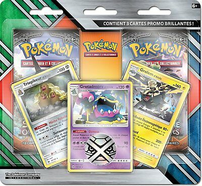 Pokemon - Pack 2 Boosters - Soleil & Lune 03 + 3 Cartes Exclusives - VF