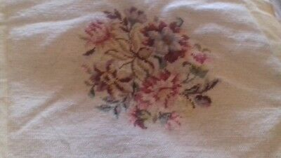 Vintage Floral Tapestry in wool never used beautiful ideal hair covering