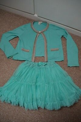 Mini Boden girls party outfit; skirt and bolero cardigan size 7-8 years (128 cm)
