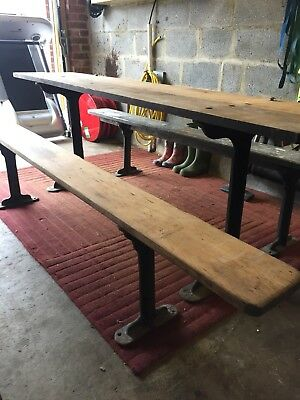 dining table and benches Antique Railway Platform Reclaim