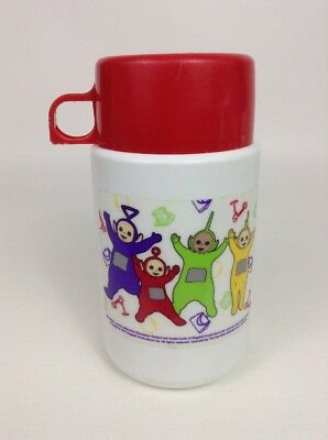 Vintage 90's Thermos Teletubbies Jumping  Lunch Box Thermos w/ Lid & Cap