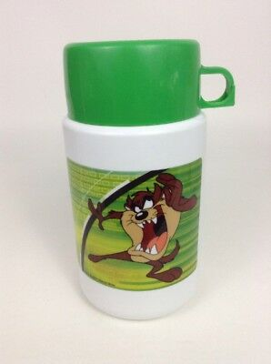 Vintage 90's Thermos Looney Tunes Taz Lunch Box Thermos  w/ Lid and Cap