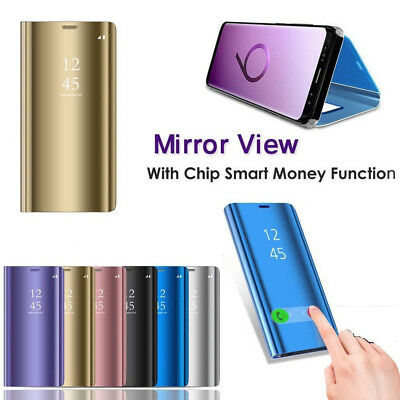 Smart Clear View Luxury Mirror View Flip Case Cover For Samsung Galaxy S9