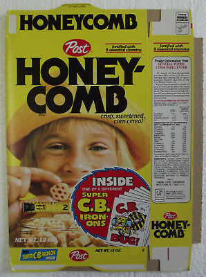 1970's Post Honeycomb C.B Iron-ons Near Mint Unused File 12oz Box