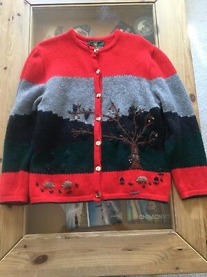 Made in Austria GIESSWEIN Button Front Cardigan Sweater ( Size 10 )