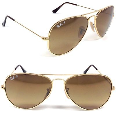f5e91bfee5 ... sunglasses 2cd1a f5f52  low cost new ray ban titanium aviator rb8041 001  m2 gold w brown gradient polarized 58mm