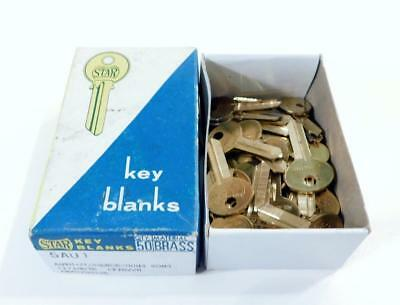 Lot of 43 Vintage STAR BRASS KEY BLANKS ~ 5AU1 ~ New Old Stock