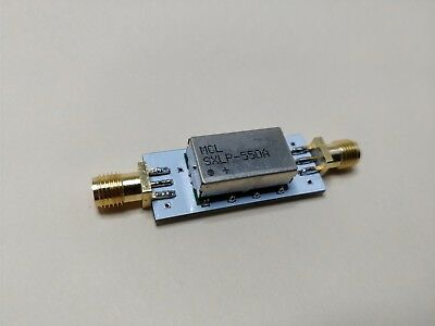 550 MHz Low Pass Filter Excellent Rejection 500 MHz Lowpass 500 MHz Low Pass