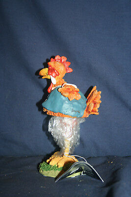 Vintage Collectible Russ Bobblehead Spring Chicken Hand Painted With Box