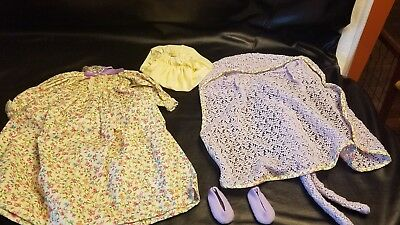 Vintage Lot of Madame Alexander Doll Clothes megs nightgown and Box