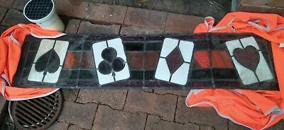 Antique Stained Glass Window for the Man cave poker room 100 yrs old