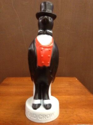 "Vintage Old Crow Whiskey Advertising Plastic 10"" Tall"