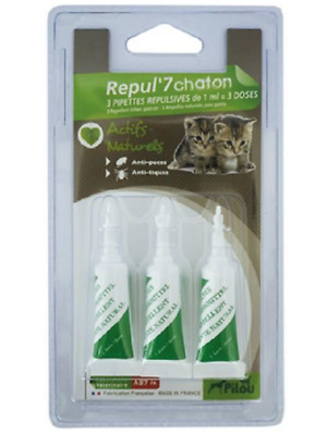 Pilou Repul'7 Pipette Repulsive Petit Chat  Animalerie Anti Puce Tique Animaux