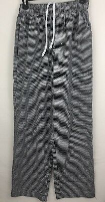 Chef Works Black White Checkered Pattern Designer Baggies Pants Mens Size Small