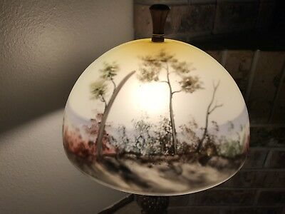 Beautiful reverse painted lamp shade trees and landscape 24900 beautiful reverse painted lamp shade trees and landscape mozeypictures Gallery