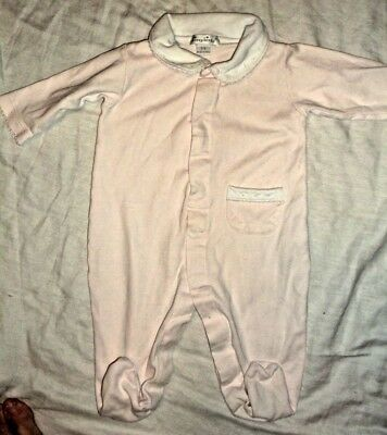 KISSY KISSY 💗3-6M💗LAYETTE💗Lt Pink,Footies,Pocket,Collar Embr Dots,Pima Cotton