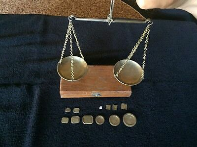 Vintage Hanging Scale with Weights