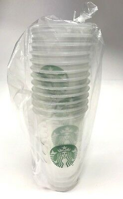 Starbucks Teavana 26 Oz NEW Clear Disposable 12CT Cups 12 pack party**Ships Free