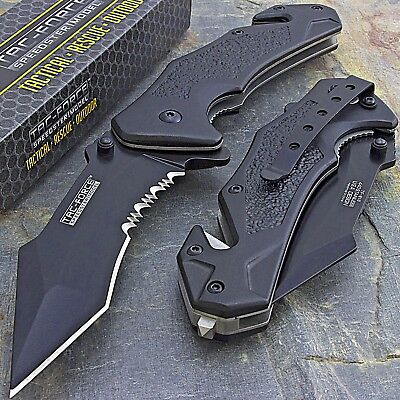 TAC FORCE SPRING ASSISTED TACTICAL FOLDING POCKET KNIFE Blade Open Assist Switch