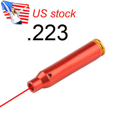 US 3 Batteries .223 REM Laser Red Cartridge Bore Sight 5.56 Boresight For Rifle