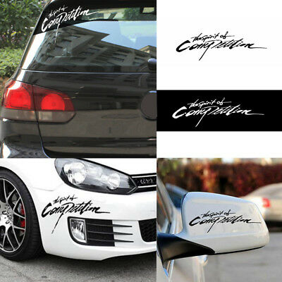 The Spirit Of Competition Car Sticker Styling Decal 3D Carbon Vinyl Vogue