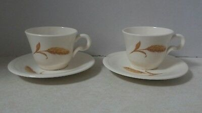 Edwin Knowles Golden Wheat MINI Cup and Saucer Set of 2 Kids Tea Set or Espresso