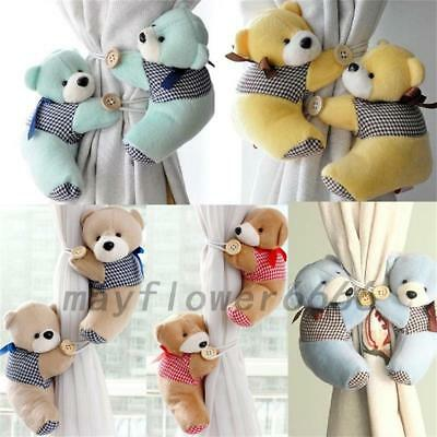 Baby Kid Cartoon Bear Holder Bedroom Curtain Tieback Buckle Hook Home Decor New