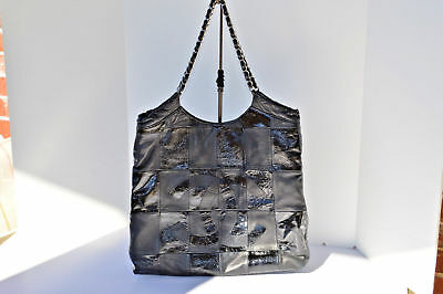 Chanel Handbag Authentic Brooklyn Patchwork Lambskin   Patent Leather Tote  Fab! e6127605533e1