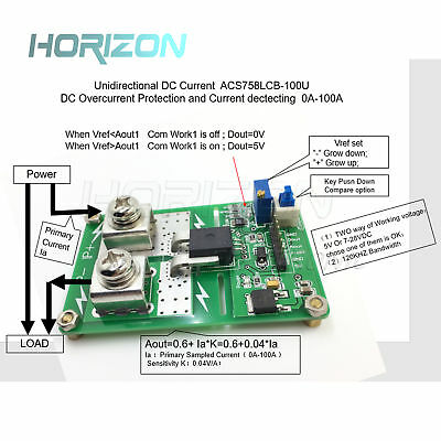 Unidirectional ACS758LCB-100U ACS758 DC detection over current protection new