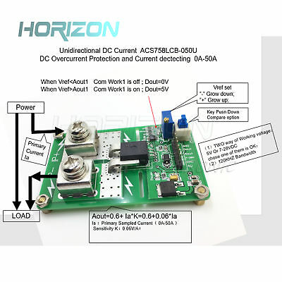 Unidirectional ACS758LCB-050U ACS758 DC detection over current protection new