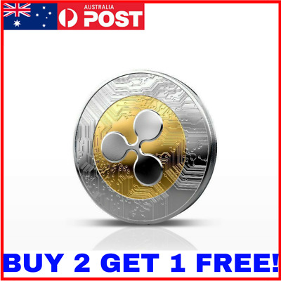 1Pcs Ripple coin XRP CRYPTO Commemorative Ripple XRP Collectors Coin Gift