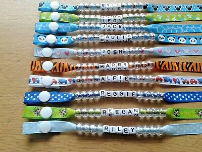 Personalised Boys Dummy Clip, New Mixed Range, Buy Any 3 & Get 4Th One Free
