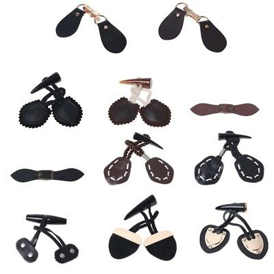 Fashion Ox Horn Leather Toggle Buttons Coat Jacket Sewing DIY Button Accessory