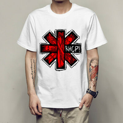Red Hot Chili Peppers Logo Red Pepper And Short Sleeve T-Shirt